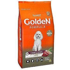 Alimento Para Cães Golden Fórmula Carne & Arroz Raças Pequenas Adultas 15kg - PremierPet