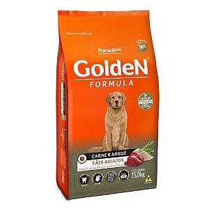 Alimento Para Cães Golden Fórmula Carne & Arroz Adultos 15kg - PremierPet