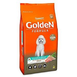 Ração Premium Especial Golden Fórmula Cães Adultos Raças Pequenas Sabor Frango e Arroz Mini Bits 3kg - PremierPet