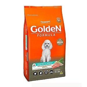 Alimento Para Cães Golden Fórmula Frango & Arroz Raças Pequenas Adultas 10,1kg - PremierPet