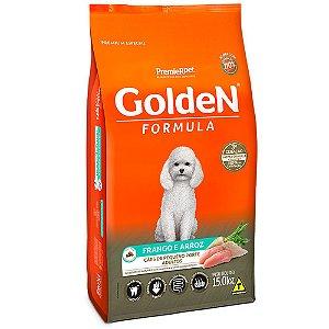 Alimento Para Cães Golden Fórmula Frango & Arroz Raças Pequenas Adultas 15,1kg - PremierPet