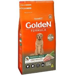 Ração Premium Especial Golden Fórmula Cães Adultos Raças Médias e Grandes Sabor Frango e Arroz 15kg - PremierPet