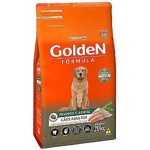 Alimento Para Cães Golden Fórmula Frango & Arroz Adultos 20kg - PremierPet