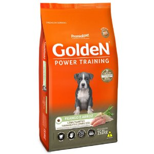 Alimento Para Cães Golden Power Training Filhotes Frango & Arroz 15kg - PremierPet