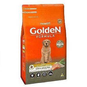 Ração Premium Especial Golden Fórmula Cães Adultos Raças Médias e Grandes Sabor Salmão e Arroz 3kg - PremierPet