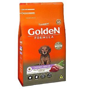 Ração Premium Especial Golden Fórmula Cães Filhotes Raças Pequenas Sabor Carne e Arroz Mini Bits 1kg - PremierPe