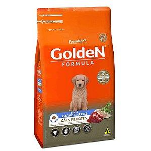 Ração Premium Especial Golden Fórmula Cães Filhotes Raças Médias e Grandes Sabor Carne e Arroz 15kg - PremierPet