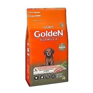 Ração Premium Especial Golden Fórmula Cães Filhotes Raças Pequenas Sabor Frango e Arroz Mini Bits 10,1kg - PremierPet