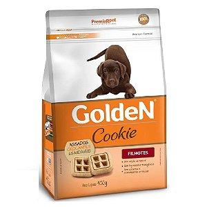 Petiscos Biscoito Golden Cookie Assados Cães Filhotes 400g - Sem Trangênicos - PremierPet
