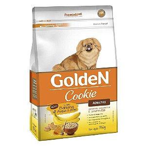 Petiscos Biscoito Golden Cookie Assados Cães Adultos Sabor Banana, Aveia e Mel 350g - Sem Trangênicos - PremierPet