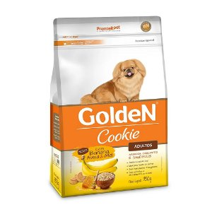 Biscoito Golden Cookie Cães Adultos Banana, Aveia & Mel 350g - PremierPet