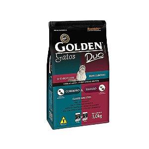 Alimento Para Gatos Golden Duo Cordeiro e Salmão Adultos 3kg - PremierPet