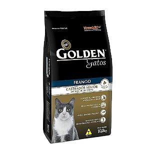 Alimento Para Gatos Golden Frango Sênior Castrados 10,1kg - PremierPet