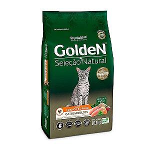 Alimento Para Gatos Golden Seleção Natural Frango Adultos 10,1kg - PremierPet