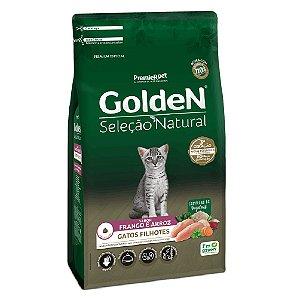 Ração Premium Especial Golden Gatos Seleção Natural Filhotes Sabor Frango e Arroz 3kg - PremierPet