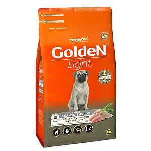 Ração Premium Especial Golden Fórmula Light Cães Adultos Raças Pequenas Sabor Frango e Arroz Mini Bits 3kg - PremierPet