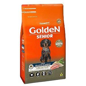 Ração Premium Especial Golden Fórmula Sênior Cães A Partir de 7 Anos Raças Pequenas Sabor Frango e Arroz Mini Bits 10,1kg - PremierPet