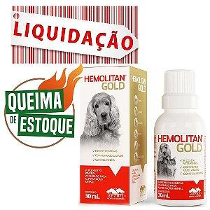 Suplemento Vitamínico Hemolitan Gold 30ml Vetnil - Liquidação