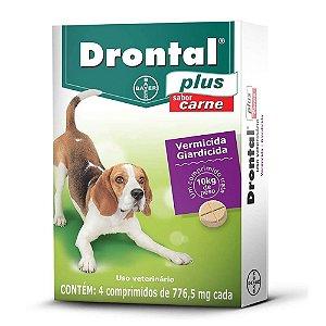 Vermífugo Drontal Plus 10kg Sabor Carne 4 Comprimidos -Bayer