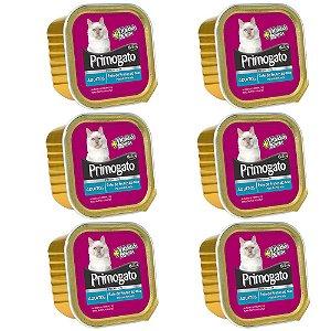 Ração Úmida Primogato Premium Patê Gatos Adultos Sabor Frutos do mar Combo 6un 150g Cada - Hercosul