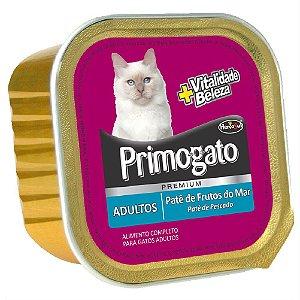 Ração Úmida Primogato Premium Patê Gatos Adultos Sabor Frutos do Mar 150g - Hercosul