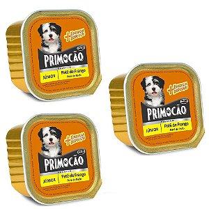 Combo 3un Alimento Primocão Premium Patê Filhotes Frango 300g