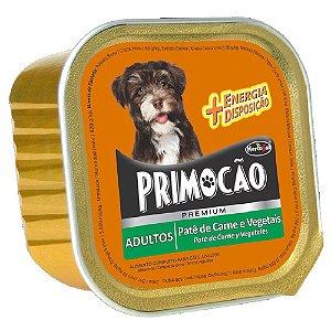 Ração Úmida Primocão Premium Patê Cães Adultos Sabor Carne e Vegetais 300g - Hercosul