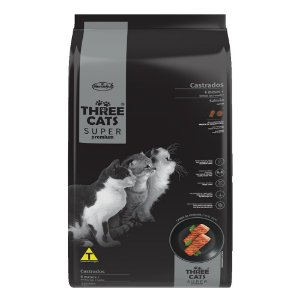 Alimento Para Gatos Three Cats Castrados Sup Premium 10,1kg