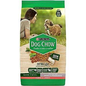 Alimento Para Cães Dog Chow Filhotes Raças pequenas e Minis Carne e Arroz 15kg