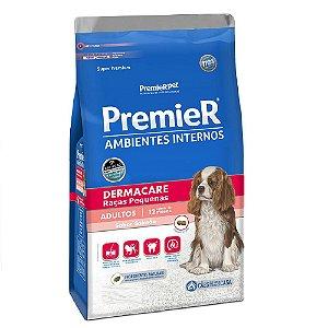 Ração Super Premium Premier Ambientes Internos Cães Adultos Dermacare Raças Pequenas Sabor Salmão 12kg - PremierPet