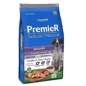 Ração Super Premium Premier Seleção Natural Cães Adultos A Partir de 12 Meses Raças Médias e Grandes Sabor Frango Korin Com Batata Doce 12kg - PremierPet