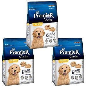 Combo 3un PremieR Cookie Cães Filhotes 250g