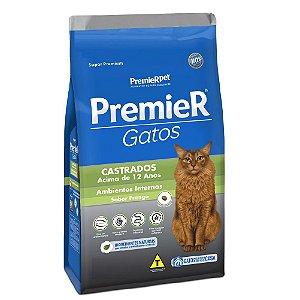 Ração Super Premium Premier Gatos Castrados Acima de 12 anos Ambientes Internos Sabor Frango 500 g - PremierPet