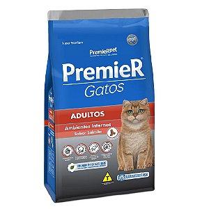 Ração Super Premium Premier Gatos Adultos Ambientes Internos Sabor Salmão 500 g - PremierPet