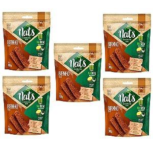Combo 5un Snack Nats Bifinho Natural NatDetox 300g