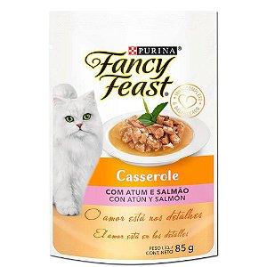 Sachê Fancy Feast Casserole Atum e Salmão 85g Purina