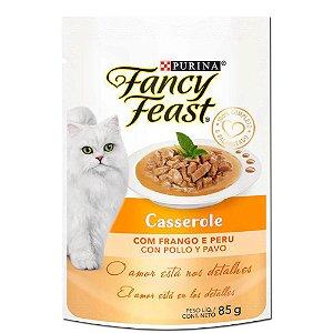 Ração Úmida Fancy Feast Sachê Gatos Adultos Casserole Sabor Frango e Peru 85g - Purina
