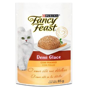Sachê Fancy Feast Demi Glace Frango 85g Purina