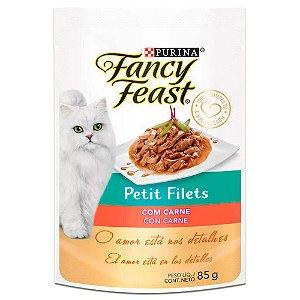 Ração Úmida Fancy Feast Sachê Gatos Adultos Petit Filets Sabor Carne 85g - Purina