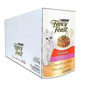 Ração Úmida Fancy Feast Sachê Gatos Adultos Goulash Sabor Atum Caixa 15un 85g Cada - Purina