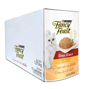Kit 15Un Sachê Fancy Feast Demi Glace Frango 85g Purina
