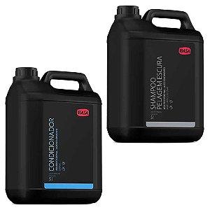 Combo Ibasa Condicionador 5l + Shampoo Pelos Escuros 5l