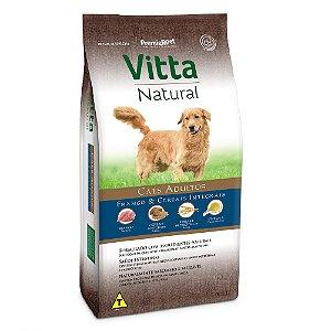 Ração Premium Especial Vitta Natural Cães Adultos Raças Médias e Grandes Sabor Frango e Cereais Integrais 15kg - PremierPet