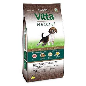 Ração Premium Especial Vitta Natural Cães Adultos Raças Pequenas Sabor Frango e Cereais Integrais 15kg - PremierPet