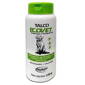 Talco Ecovet 100g - Antipulgas e Perfumado