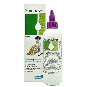 Surosolve 125ml Limpeza de Ouvido para Cães e Gatos - Elanco