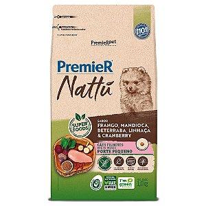 Ração Super Premium Premier Nattu Cães Filhotes Porte Pequeno Sabor Frango e Mandioca 1kg - PremierPet