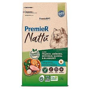 Ração Super Premium Premier Nattu Cães Adultos Raças Pequenas Sabor Frango e Abobora 1kg - PremierPet