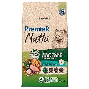 Ração Super Premium Premier Nattu Cães Adultos Raças Pequenas Sabor Frango e Abobora 10,1kg - PremierPet