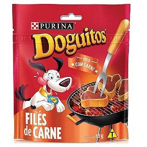 Petisco Doguitos Snack Sabor Filés de Carne 65g - Purina